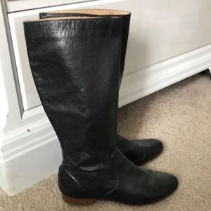 Frye Jillian Pull-on Black leather boots sz 8.5